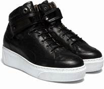 WOMEN'S 'SELECT' HI-TOP w/STRAP - EMBOSSED CROC BLACK