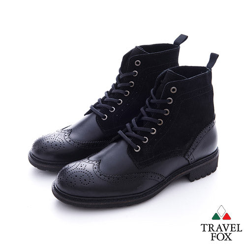 MEN'S SELECT WINGTIP BOOTS - BLACK