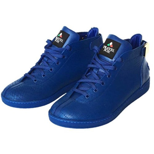 MEN'S 'MALIBU' EMBOSSED SNAKE PRINT MIDS w/BUCKLE - ROYAL BLUE