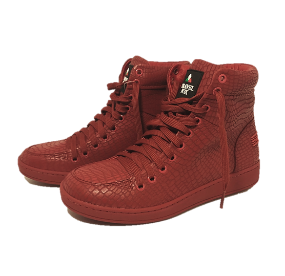 MEN'S 900 SERIES - EMBOSSED SNAKE PRINT RED