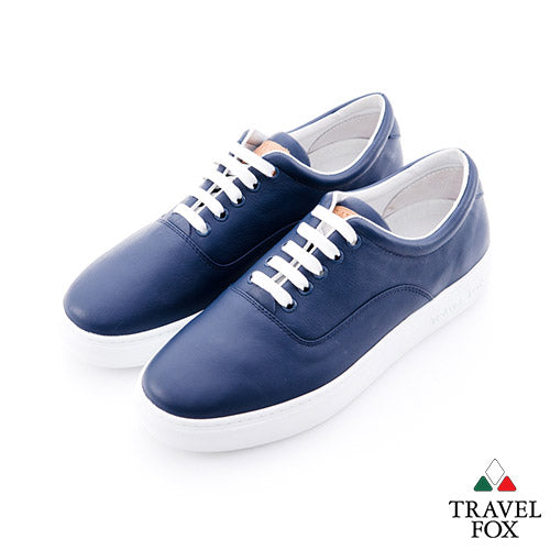 MEN'S LOW-CUT - NAPPA LEATHER BLUE