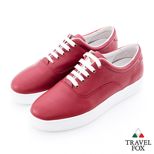 MEN'S LOW-CUT - NAPPA LEATHER RED