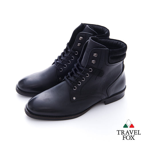 MEN'S SELECT LACE-UP DRESS BOOTS - BLACK