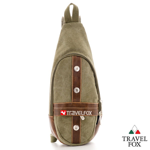 SHOULDER SLING BACKPACK - GREEN CANVAS