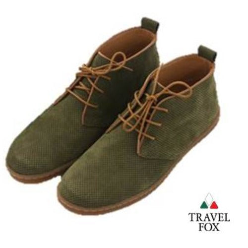 MEN'S DESERT BOOTS - PERFORATED SUEDE GREEN