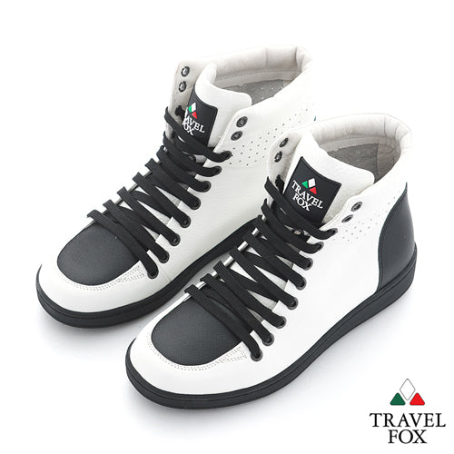 MEN'S 900 SERIES - TWO-TONE WHITE & BLACK NAPPA LEATHER
