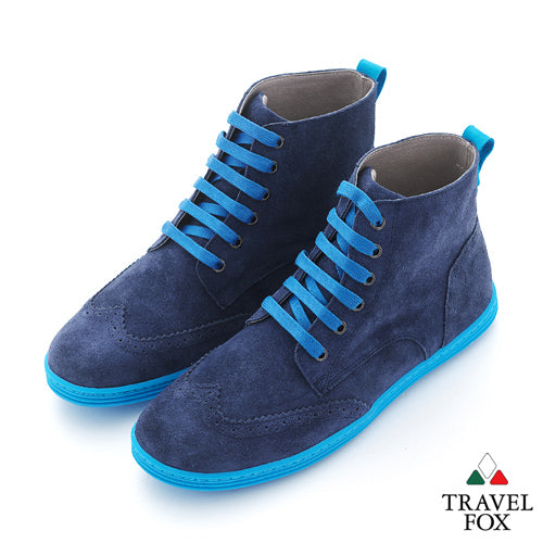 MEN'S BOOTS - SUEDE WINGTIPS BLUE
