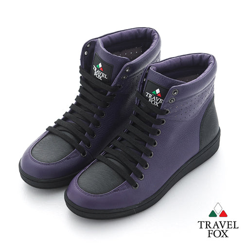WOMEN'S 900 SERIES - TWO-TONE PURPLE & BLACK NAPPA LEATHER