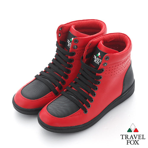 MEN'S 900 SERIES - TWO-TONE RED & BLACK NAPPA LEATHER