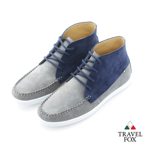 MEN'S CHUKKA BOOTS - TWO-TONE BLUE/GREY