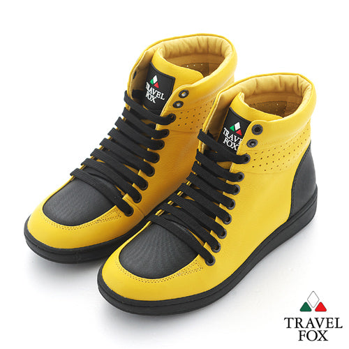 MEN'S 900 SERIES - TWO-TONE YELLOW & BLACK NAPPA LEATHER
