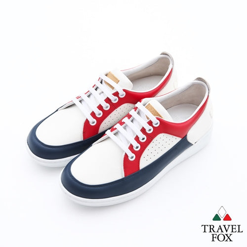 WOMEN'S LOW-CUT CITY WALKER - NAPPA LEATHER RED/NAVY/WHITE