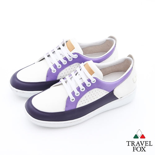 WOMEN'S LOW-CUT CITY WALKER - NAPPA LEATHER WHITE/PURPLE/LAVENDER