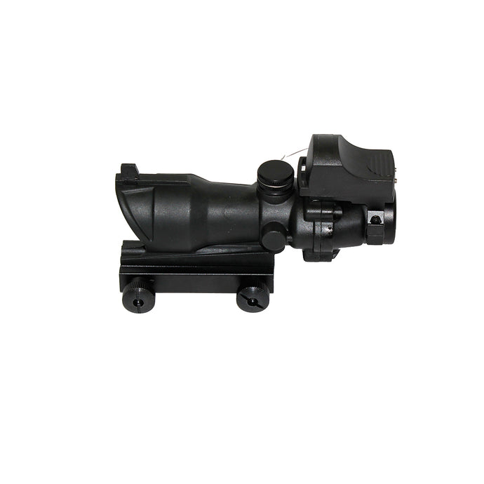 WeCog 4x32 ACOG + DR Sight - Black
