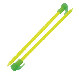 "Highlander 8"" Fluorescent Tent Pegs - Pack of 6"