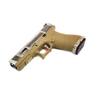 WE Glock 17 Tan - Silver Slide & Barrel
