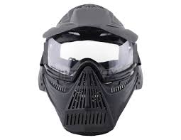 Bulldog Airsoft Tactical Gear Full Face Mask (Clear Lense)