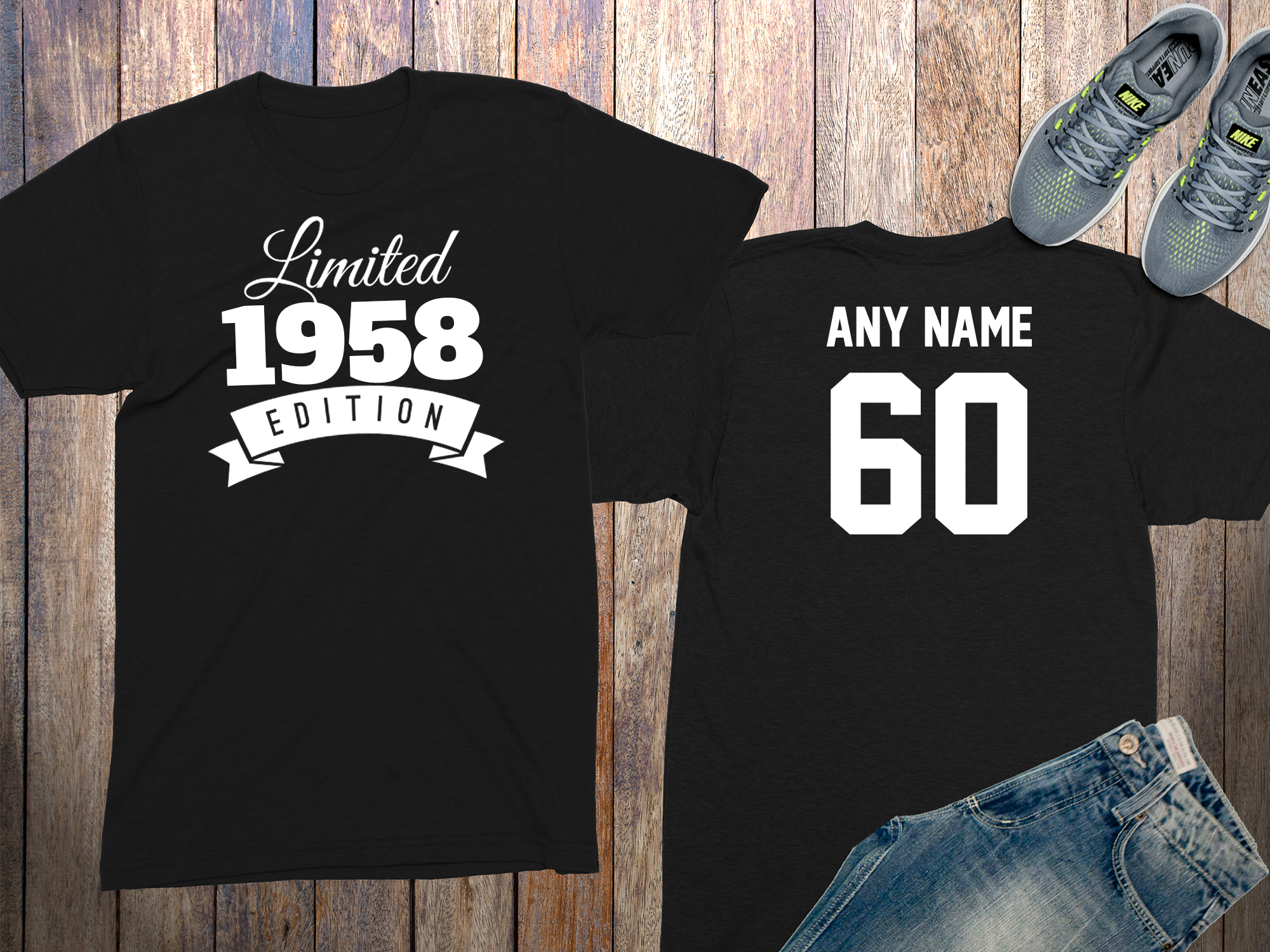 60 Year Old Personalized 1958 Limited Edition Birthday Shirt