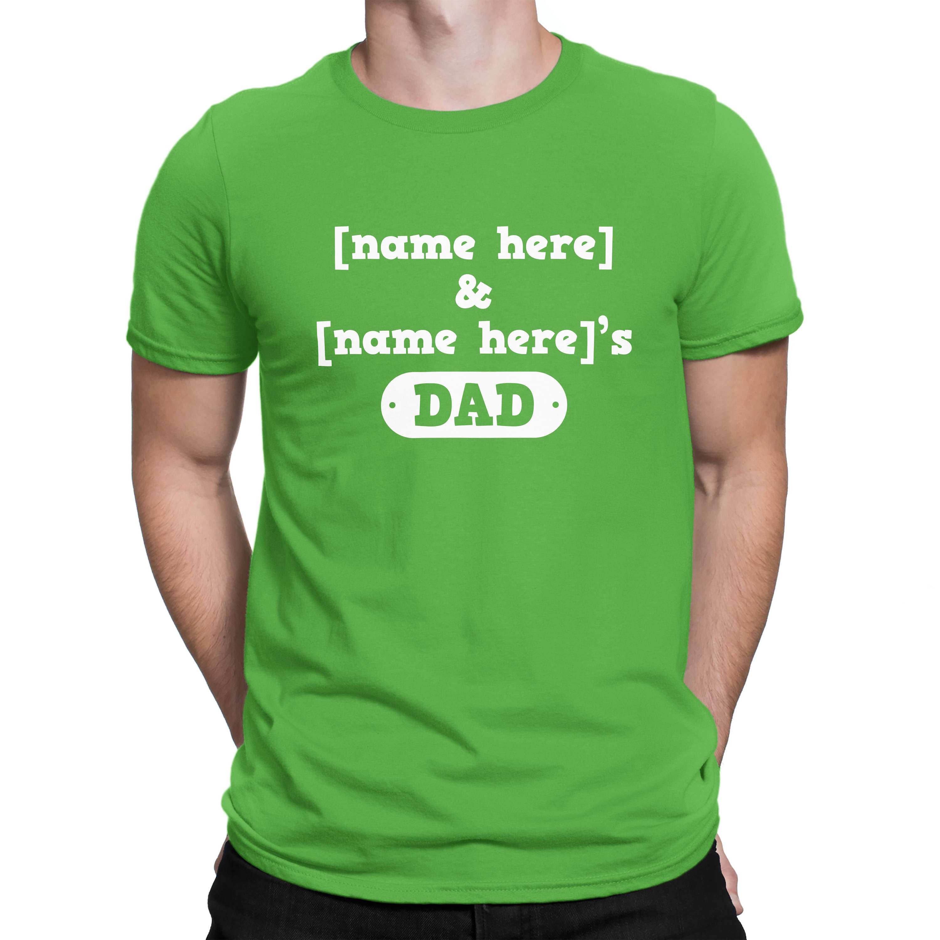 43a0471f Custom Father's Day Shirt with Kids Names - Shirt for Dad from Kids Dad -  Gift for Daddy with Kids names - Father's Day Surprise from Kids