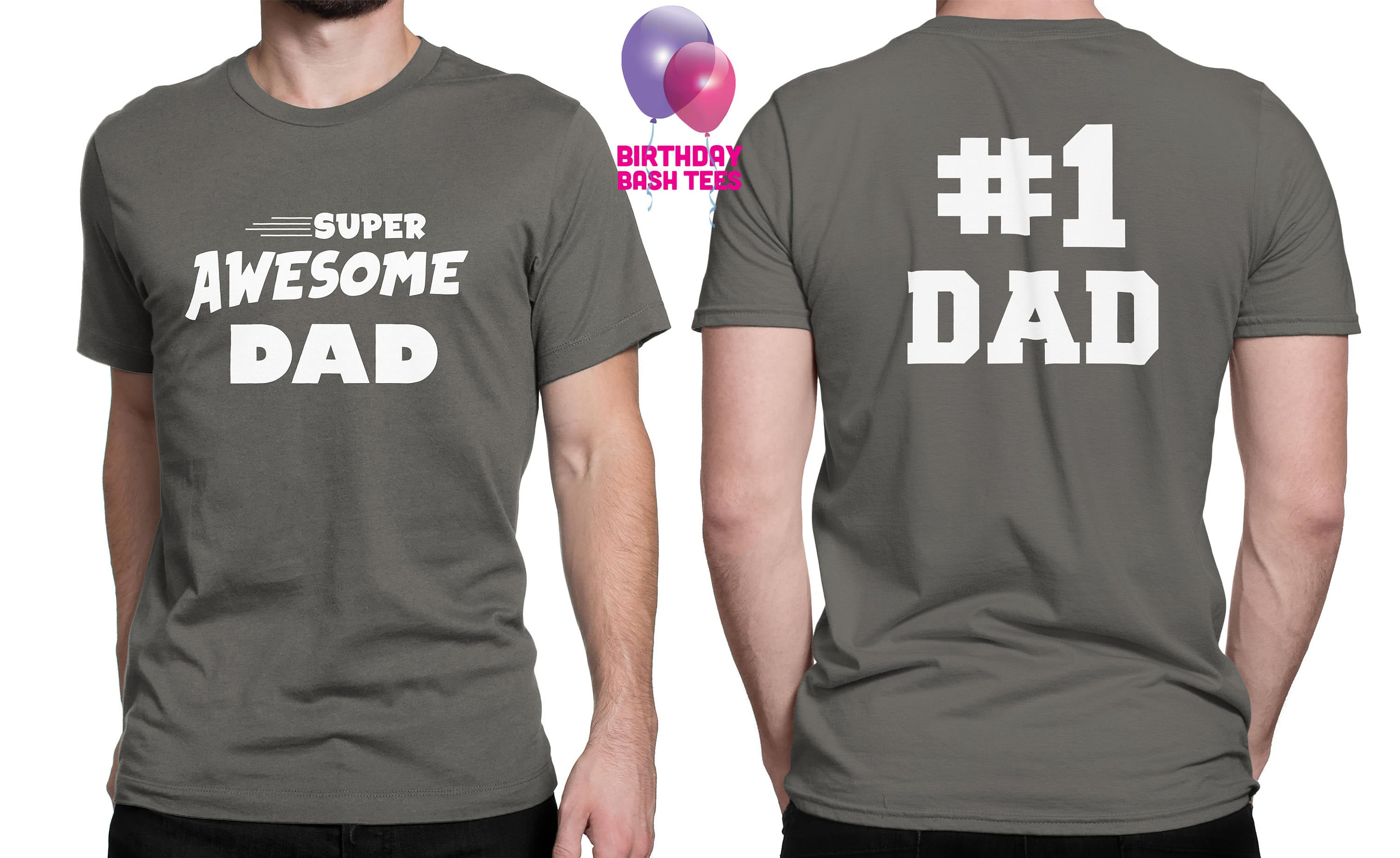 811276a2 Super Awesome Dad Father's Day Gift Shirt for Dad Number One Dad Dad is  Number 1 Awesome Dad gift Best Father Shirt Gift from Kids for Dad