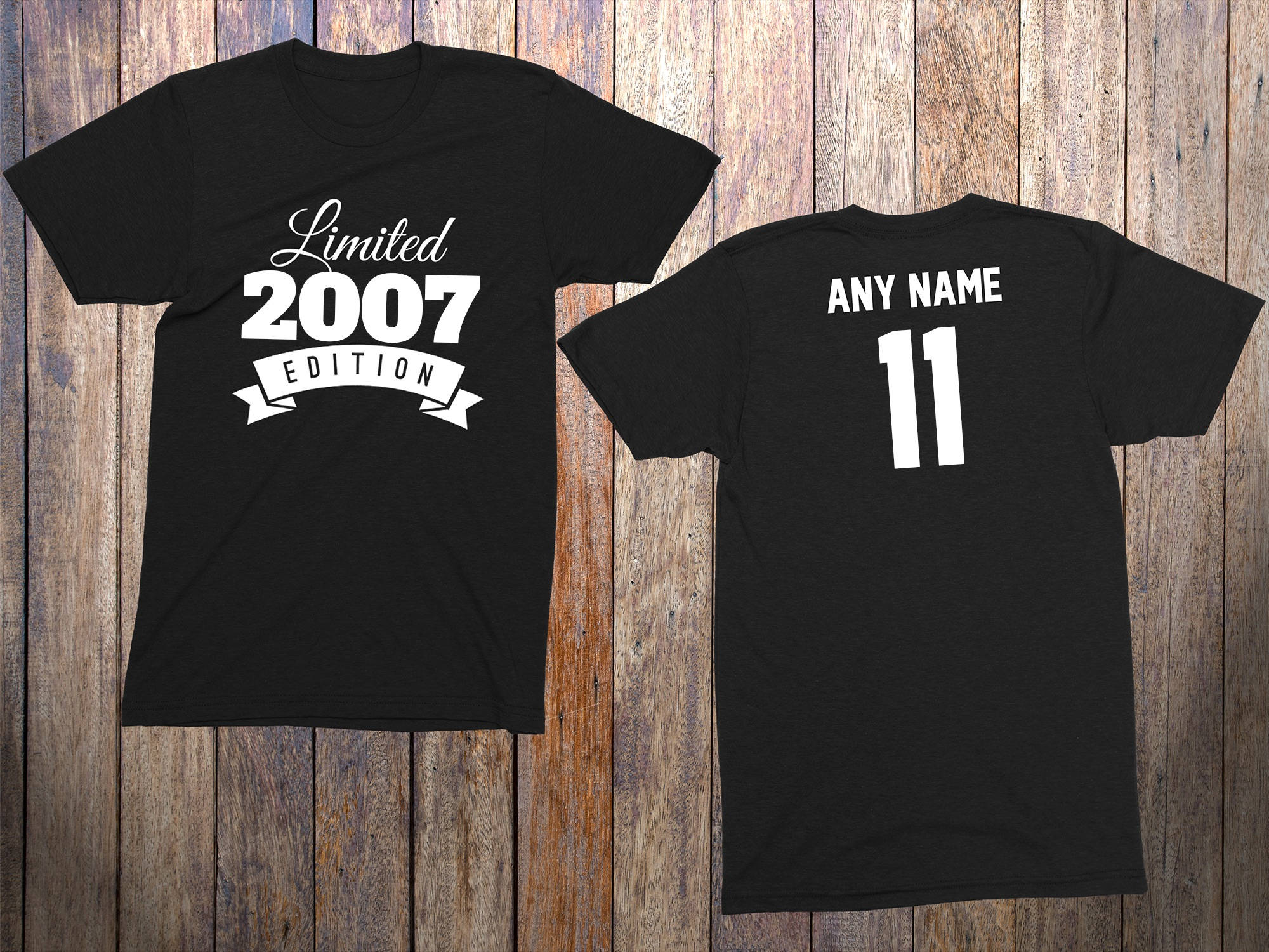 11 Year Old Birthday Shirt Or Hoodie 2007 Kids Limited Edition 11th Youth Celebration