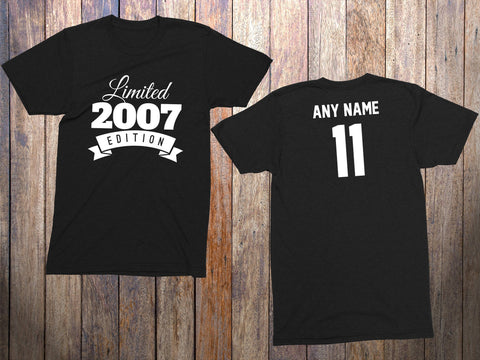 11 Year Old Birthday Shirt Or Hoodie 2007 Kids Limited Edition 11th