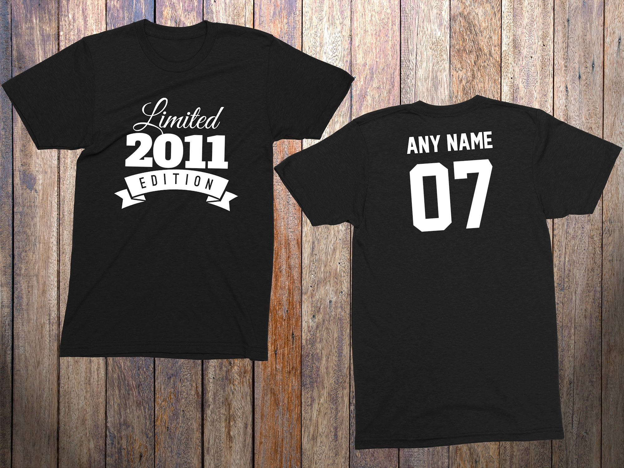 7 Year Old Birthday Shirt Or Hoodie 2011 Kids Limited Edition 7th Party Years Youth Celebration