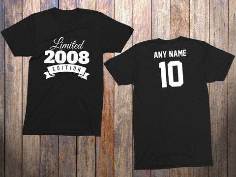 10 Year Old Birthday Shirt Or Hoodie 2008 Kids Limited Edition 10th