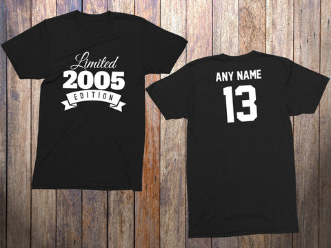 13 Year Old Birthday Shirt Or Hoodie 2005 Kids Limited Edition 13th