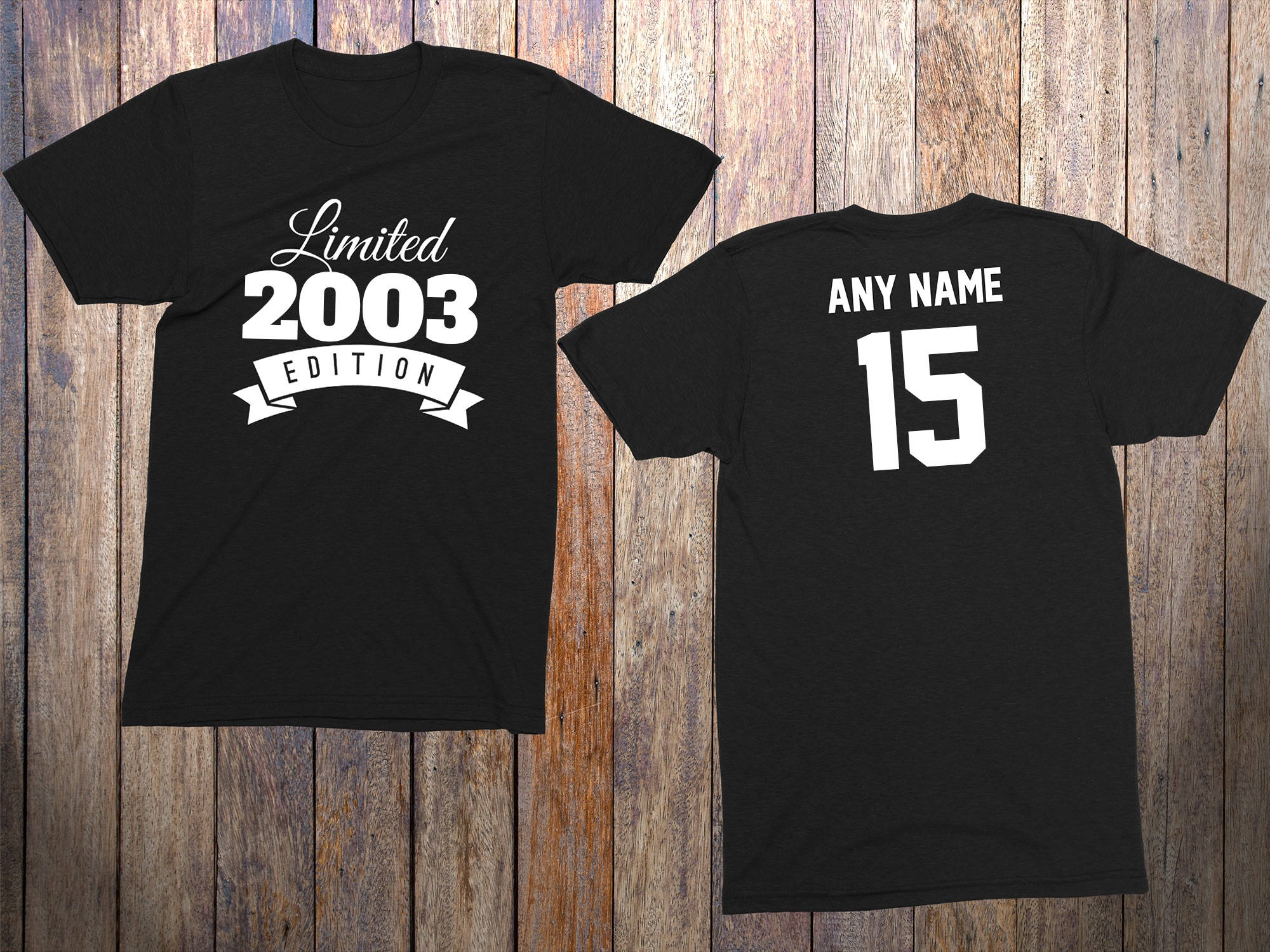15 Year Old Birthday Shirt Or Hoodie 2003 Kids Limited Edition 15th Youth Celebration