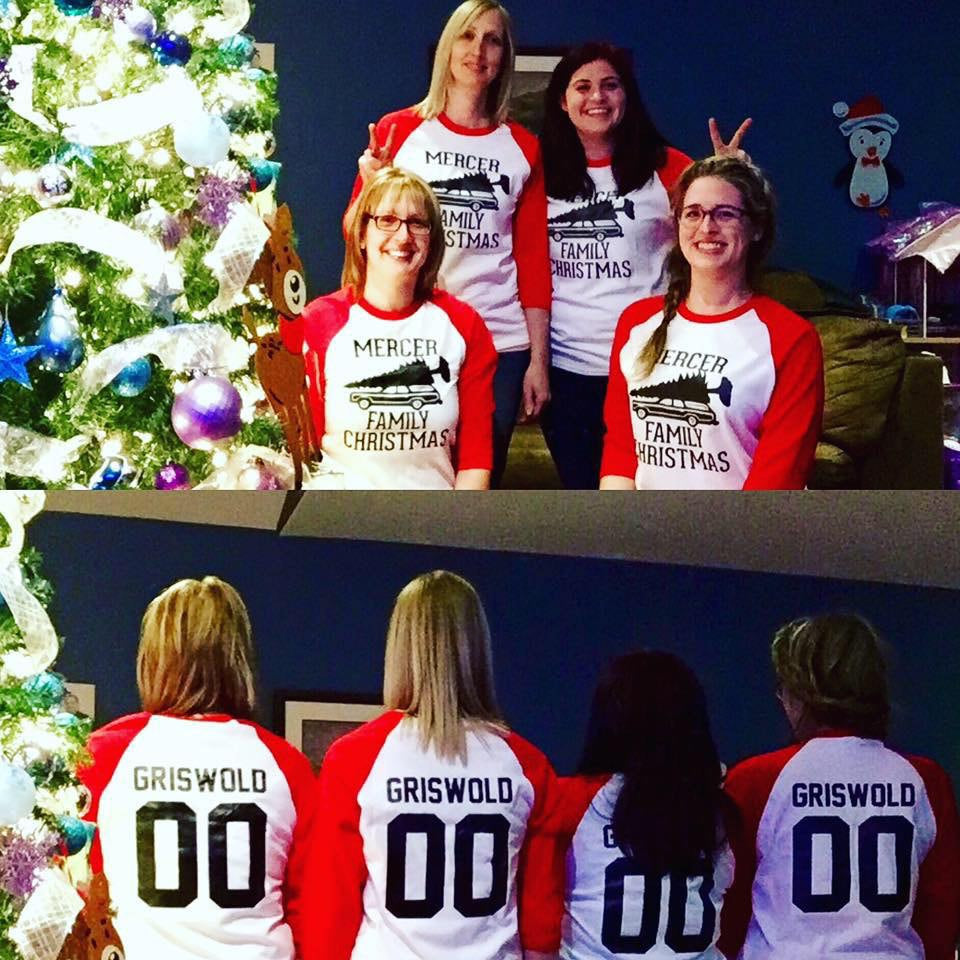 personalized griswold christmas vacation themed raglan shirt any name