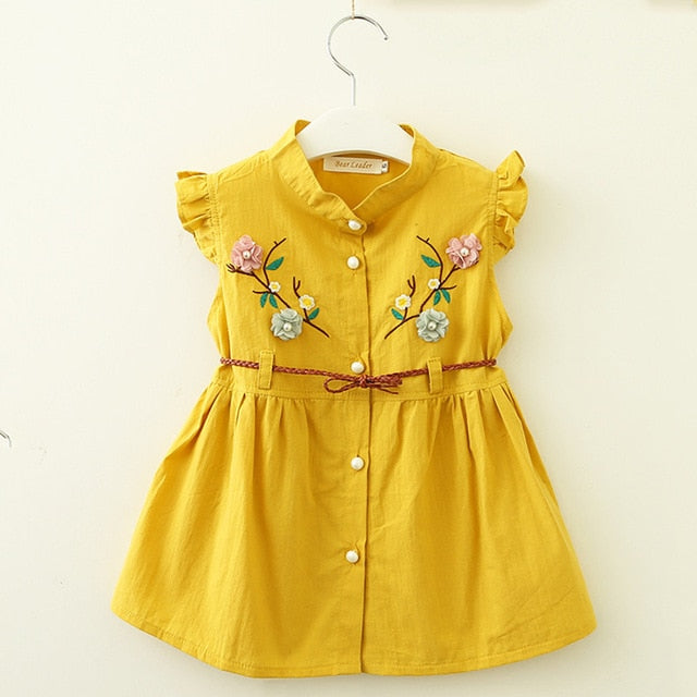 ab3b74319 Bear Leader Baby Dresses 2018 New Summer Baby Girls Clothes Flowers ...