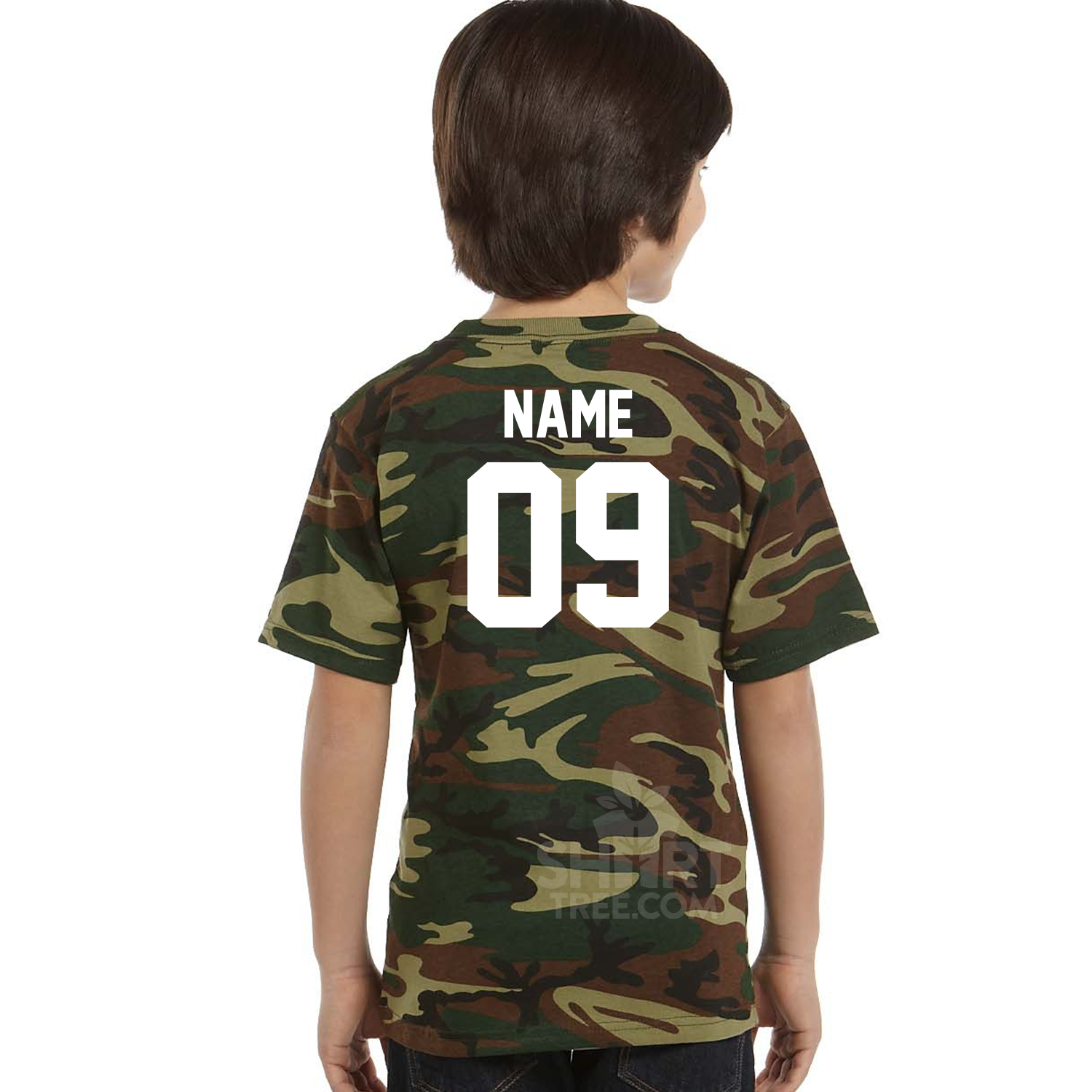 Personalized Limited Edition Youth Camo Birthday Shirt