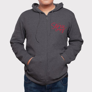 StoryCorps Charcoal Heather Zip-Up Hoodie