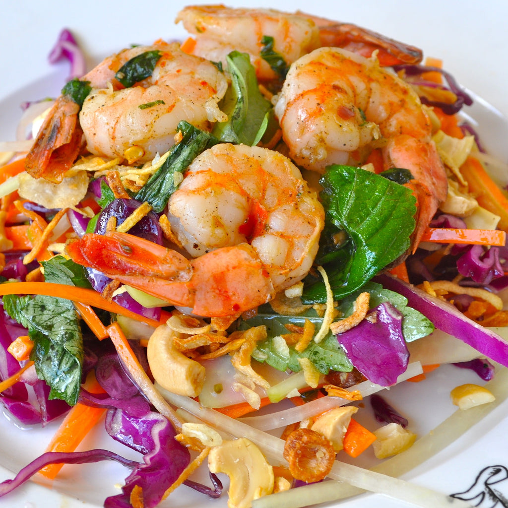 Shrimp & Scallop Mango Salad with Balsamic Dressing
