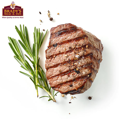 "Brady's Top Sirloin ""Baseball"" Steaks"