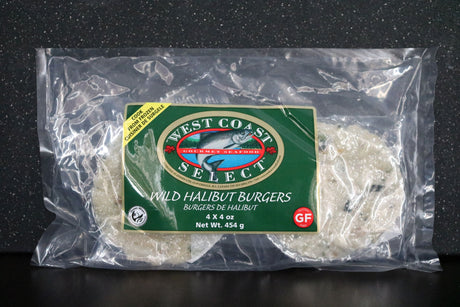 West Coast Select Halibut Burgers - Gluten-Free