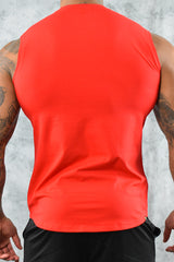 COOL COTTON SLEEVELESS T SHIRT - RED