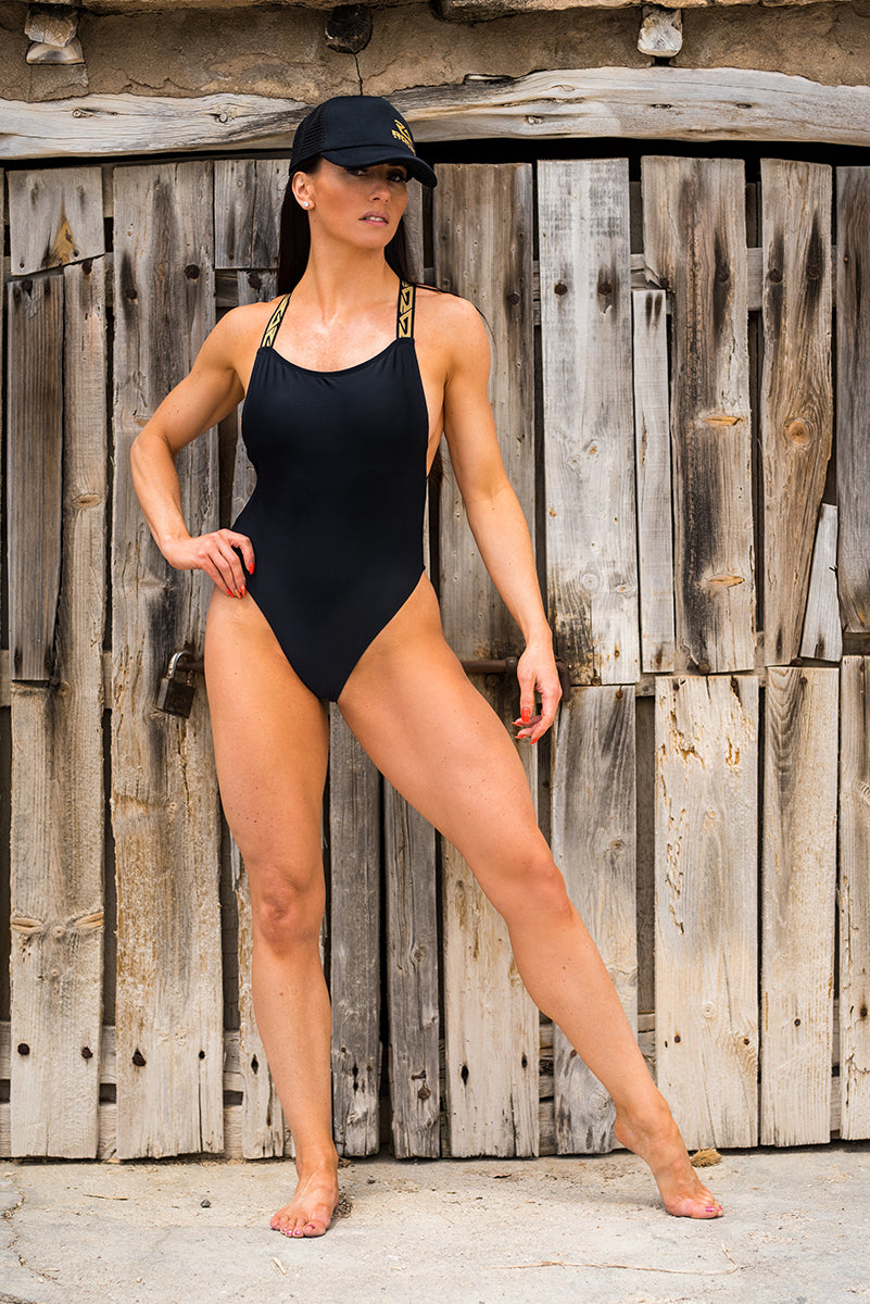 SAN ANTONIO SWIM SUIT - BLACK