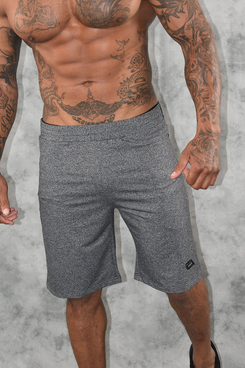 COMFORT TECH SHORTS -GREY MARL