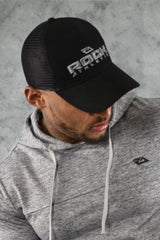 CORE MESH TRUCKERS CAP - BLACK GREY
