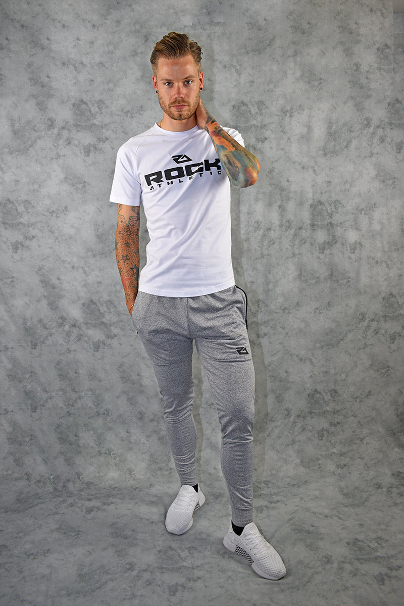 ELITE  JOGGERS - LIGHT GREY MARL