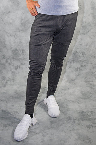 ELITE  JOGGERS - DARK GREY MARL