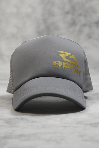 ROCK TRUCKER CAP - GREY GOLD