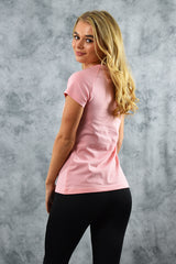 COOL COTTON V NECK T SHIRT - PINK
