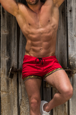 BEACH SHORTS - RED