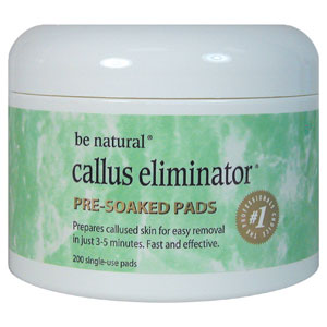 Be Natural Callus Eliminator Pre-soak Pads 200pk.