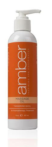 Massage Oil 8 oz Tangerine Basil