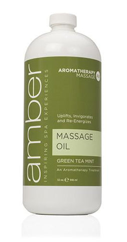 Massage Oil 32 oz. Green Tea Mint