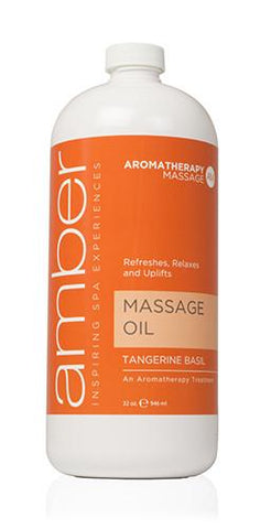 Massage Oil 32 oz. Tangerine Basil